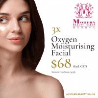 Book Oxygen Moisturising Facial Treatment at $68 for 3 sessions